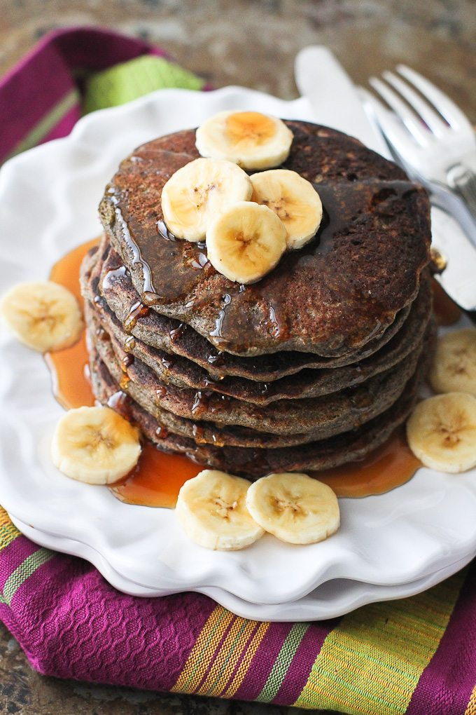 Buckwheat Blender Pancakes…A quick, healthy breakfast recipe that happens to be gluten free ! 187 calories and 6 Weight Watchers SmartPoints | cookincanuck.com