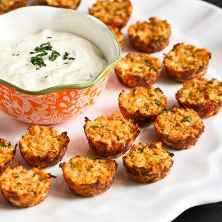 Baked Hummus & Feta Cauliflower Bites {Healthy New Year Challenge – Week 5}
