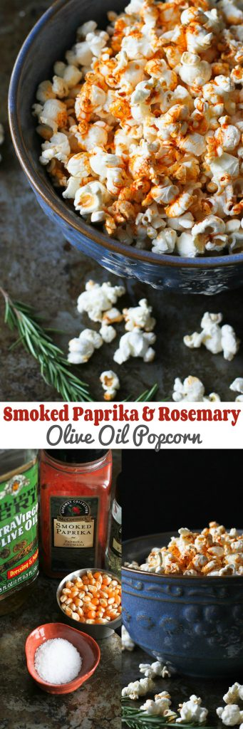 Smoked Paprika and Rosemary Olive Oil Popcorn Recipe…An addictive whole grain snack! 102 calories and 3 Weight Watchers Freestyle SP #healthysnacks #cleaneating #recipe