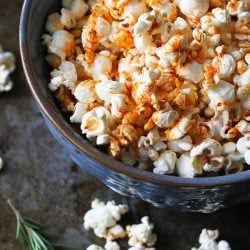 Smoked Paprika & Rosemary Olive Oil Popcorn Recipe