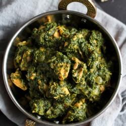 Spinach & Chicken Curry Recipe {Chicken Saag} – Healthy New Year Challenge: Week 2