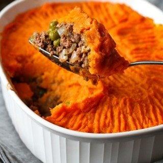 Sweet Potato Bison Shepherd's Pie Recipe {Healthy New Year Challenge – Week 3}