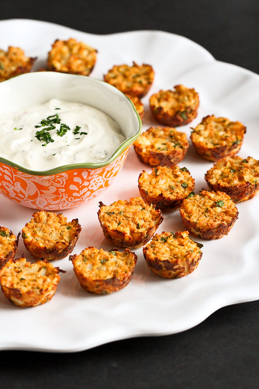 Hummus & Feta Cauliflower Bites…Great for healthy snacking or entertaining! 48 calories and 1 Weight Watcher SmartPoint for 2 bites!
