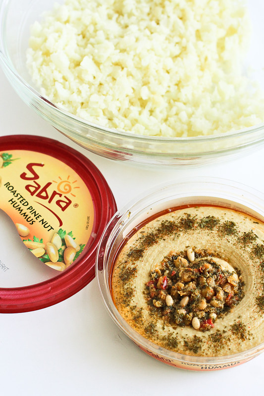 Hummus and Feta Cauliflower Bites…Great for healthy snacking or entertaining! 48 calories and 1 Weight Watcher Freestyle SP for 2 bites!