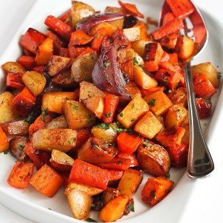 Tart Cherry Glazed Roasted Root Vegetables…Amazing flavors in this side dish! You won't be able to stop eating them. 202 calories and 6 Weight Watcher Freestyle SP