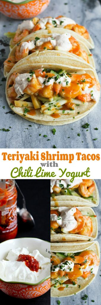 Teriyaki Shrimp Tacos with Chili Lime Yogurt…The flavors in these tacos are absolutely amazing! 284 calories and 6 Weight Watcher Freestyle SP