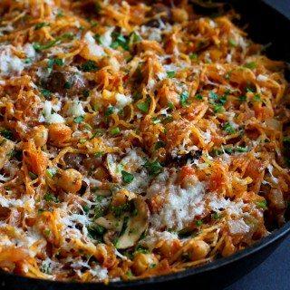 Vegetarian Spaghetti Squash Skillet Recipe