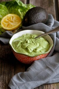Light Avocado Green Goddess Dressing…A mayo-free version of a classic dressing, with creamy avocado! 66 calories and 2 Weight Watcher Freestyle SP