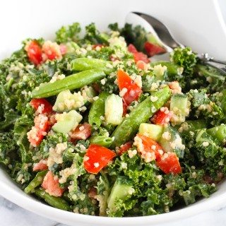 Quinoa Vegetable Salad with Tahini Dressing