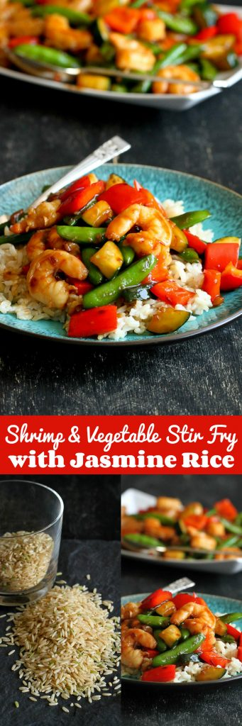 Shrimp and Vegetable Stir Fry with Jasmine…Quick and healthy, with plenty of flavor! 261 calories and 6 Weight Watcher SmartPoints