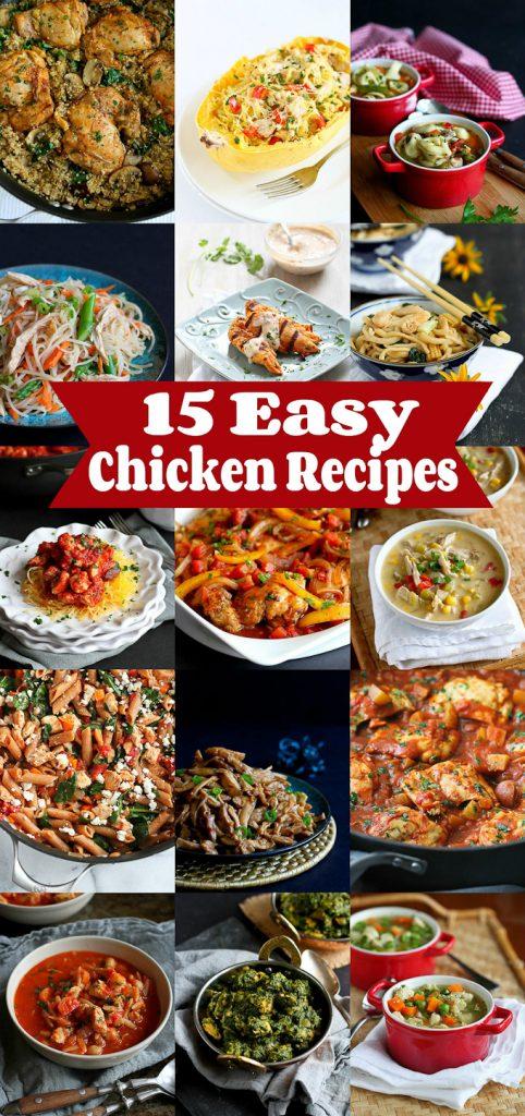 15 Easy Chicken Recipes