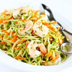 Lemon Rosemary Shrimp & Broccoli Slaw Recipe