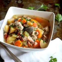 Slow Cooker Turkey & Potato Soup Recipe