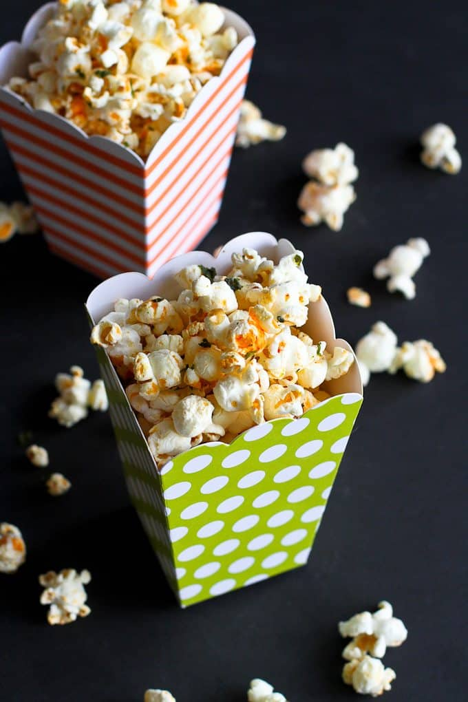 Sriracha Lime Olive Oil Popcorn Recipe…A whole grain snack with a tangy kick! 104 calories and 3 Weight Watchers Freestyle SP