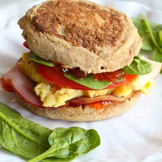 Egg Breakfast Sandwich with Pepper Jelly and Spinach…The breakfast sandwich to beat all others! 255 calories and 6 Weight Watchers Freestyle SP
