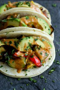 Grilled Thai Vegetable Tacos…One of the tastiest meatless meals you'll eat this summer! Also vegan and gluten free. 233 calories and 7 Weight Watchers Freestyle SP