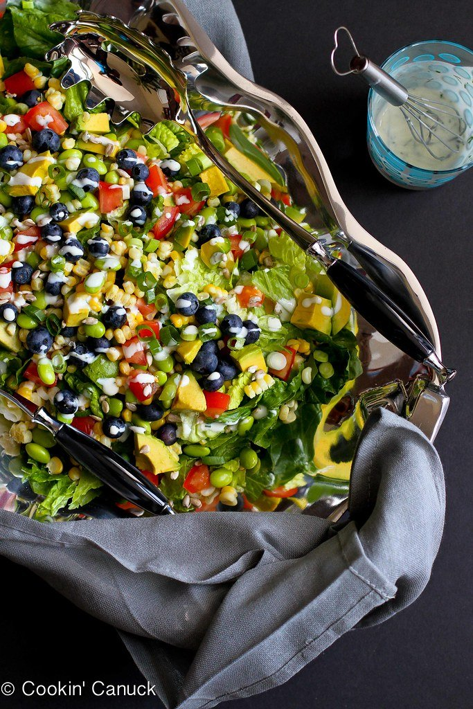 The Ultimate Summer Salad Recipe with Dill Buttermilk Dressing | cookincanuck.com #vegetarian #MeatlessMonday