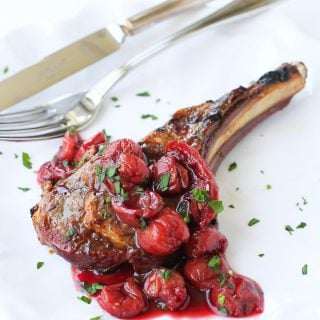 Grilled Lamb Chops with Tart Cherry Sauce…A beautiful summertime meal that's fantastic for entertaining! 268 calories and 8 Weight Watchers Freestyle SP