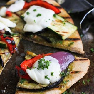 Grilled Pesto Vegetable Pizza Recipe