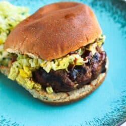 Hoisin Buffalo Burger with Spicy Slaw