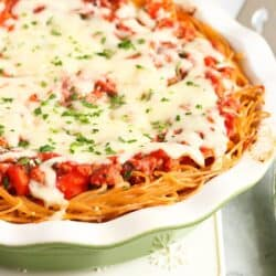 Lightened-Up Spaghetti Pie…Turn a regular spaghetti meal into something special! 283 calories and 6 Weight Watchers Freestyle SP