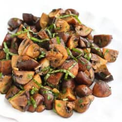 Lemon Basil Roasted Mushrooms Recipe