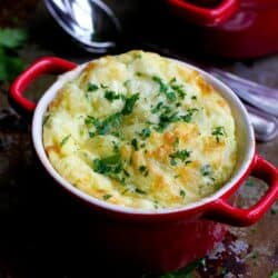 Make-Ahead Baked Eggs with Zucchini & Gruyere Cheese