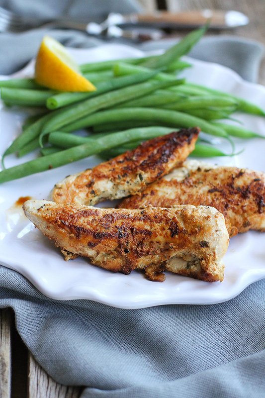 Lemon Chicken Tenders Marinated with Yogurt…Eat these on their own, use them to top salads or cut up and toss in pasta! 191 calories and 1 Weight Watchers Freestyle SP