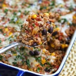 Southwestern Turkey Rice Casserole Recipe