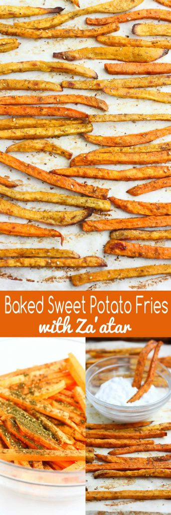 Baked Sweet Potato Fries Recipe with Za'atar…Perfectly spiced, golden brown and only 5 ingredeints! You won't be able to eat just one. 140 calories and 5 Weight Watchers Freestyle SP