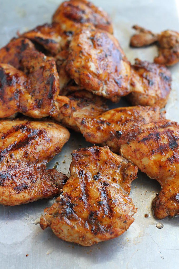 Grilled (or Broiled) Spice Rubbed Chicken Recipe...265 calories and 5 Weight Watcher SmartPoints
