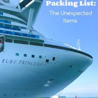 Cruise Packing List: The Unexpected Items