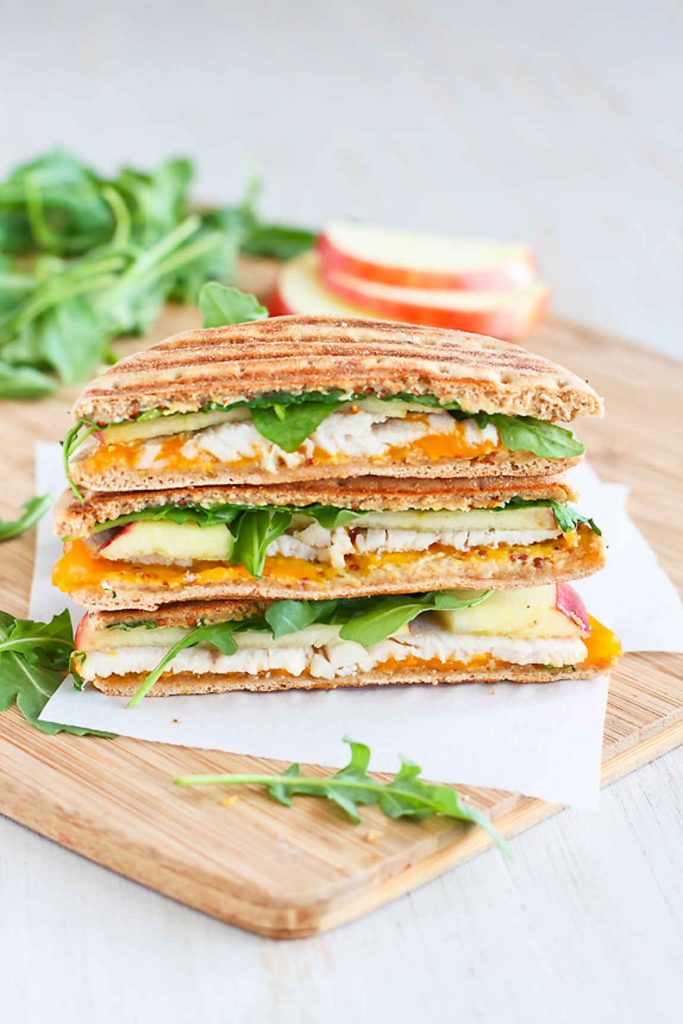 Turkey Panini with Apple, Cheddar and Arugula, plus more healthy Thanksgiving leftovers recipes!
