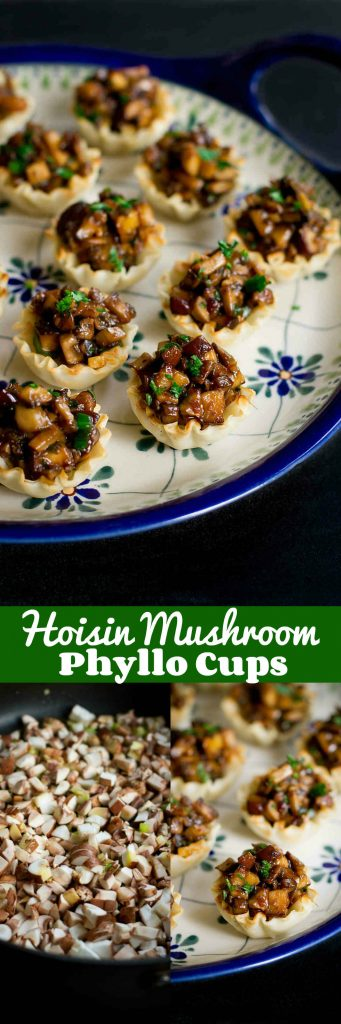 These Hoisin Mushroom Phyllo Cups will disappear from the appetizer table in minutes! So much flavor packed into one little bite. 65 calories and 1 Weight Watchers Freestyle SP