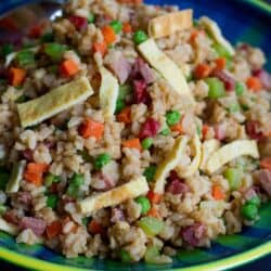 Light Vegetable Fried Rice with Pork…Skip the take-out and cook up a batch of flavorful, healthier fried rice at home. Packed with vegetables! #VegItUp 275 calories and 7 Weight Watchers SmartPoints