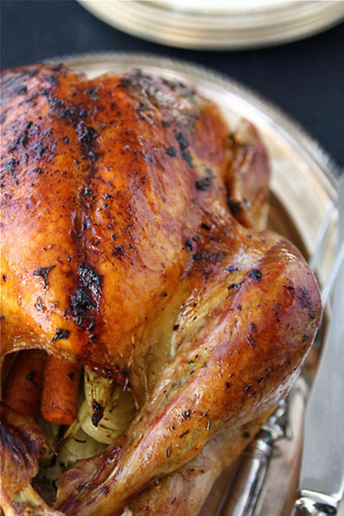 for the recipe roasted turkey with herb butter roasted shallots this ...