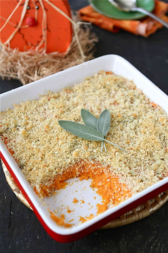 For the recipe => Mashed Sweet Potatoes with Blue Cheese Breadcrumbs