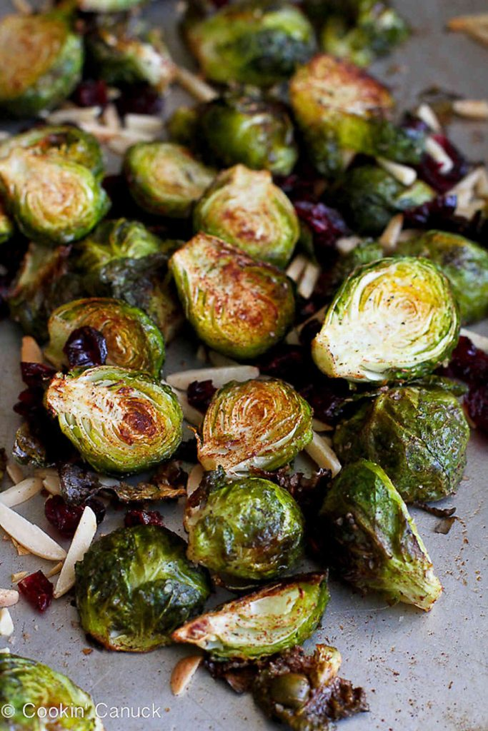 My Best Thanksgiving Recipes and Cooking Tips...Tons of fantastic ideas here (like these Cinnamon Roasted Brussels Sprouts) to make holiday entertaining a breeze!