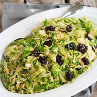 Sautéed Brussels Sprouts with Dried Cherries & Almonds