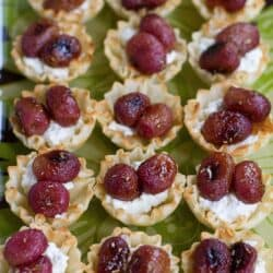 Roasted Grape & Ricotta Phyllo Cups