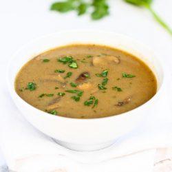 Vegan Cream of Curry Mushroom Soup Recipe