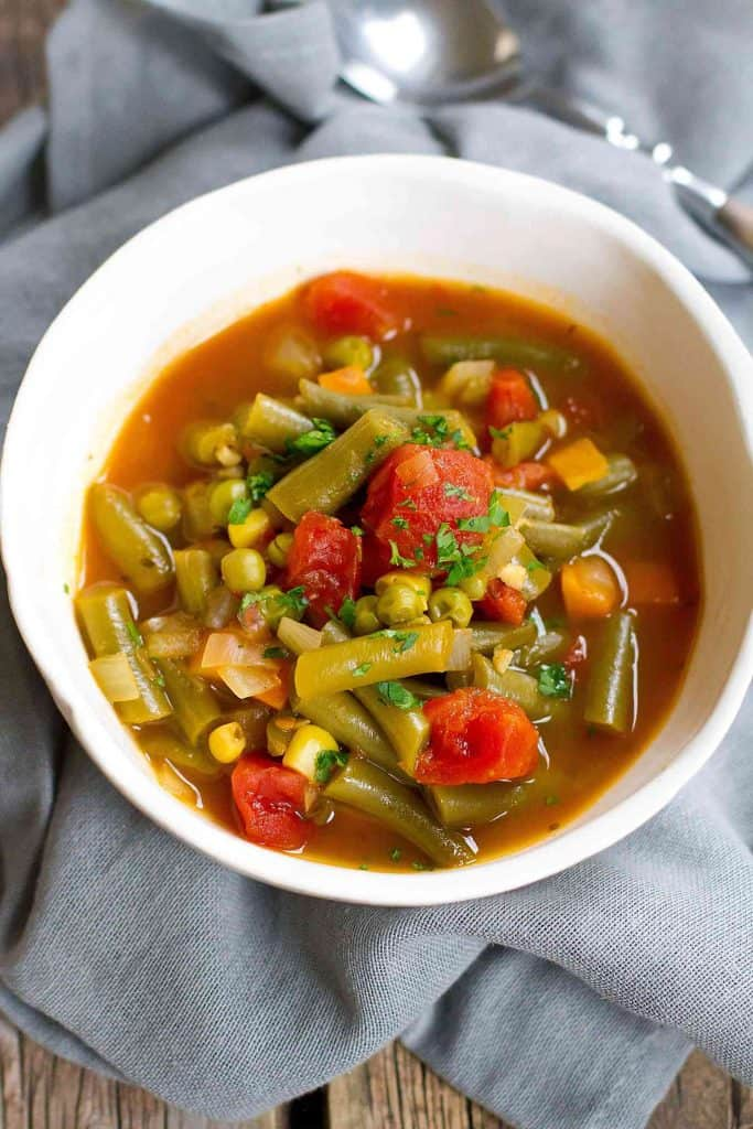 When you need an easy, light lunch, this Instant Pot Vegetable Soup works perfectly! Stovetop instructions also included. 102 calories and 1 Weight Watchers SmartPoint