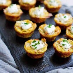You won't be able to eat just one of these Baked Mashed Potato Bites, the perfect lightened-up appetizer! For 2 bites…81 calories and Freestyle SP