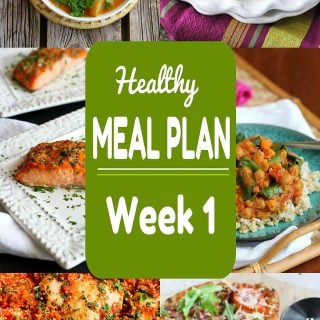 Healthy Meal Plan {Week 1}