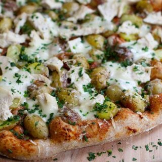 Leftover Turkey (or Chicken) & Potato Pizza Recipe