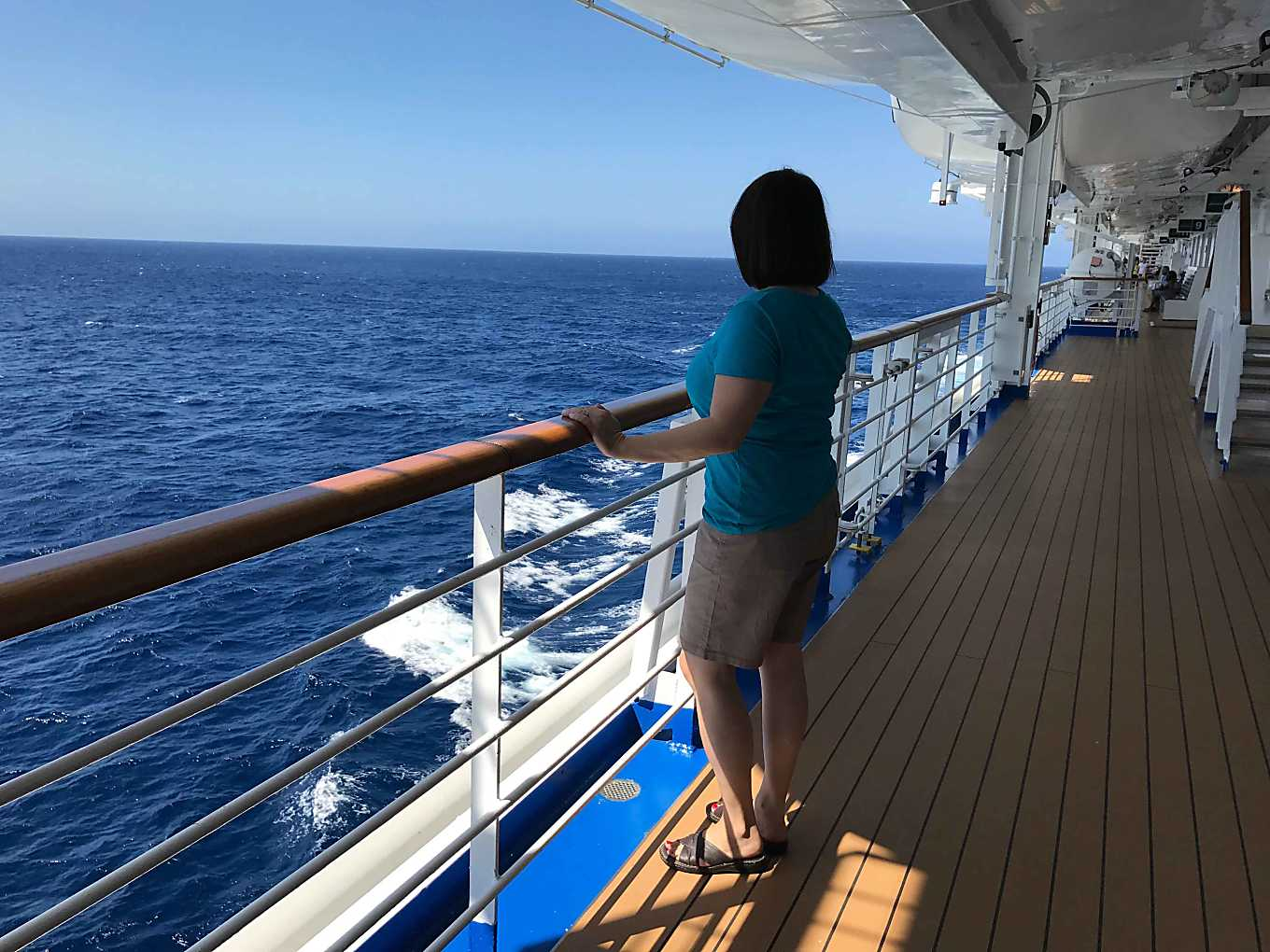 Ruby Princess Mexican Riviera Cruise.  View out to the sea.