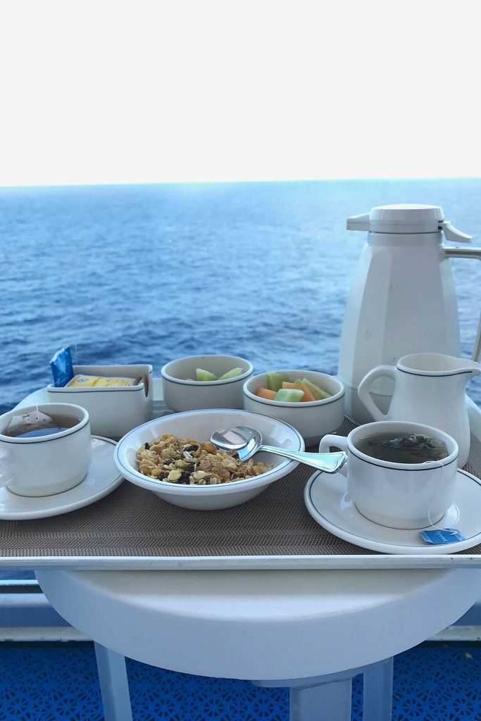 Ruby Princess Mexican Riviera Cruise Breakfast on the Balcony