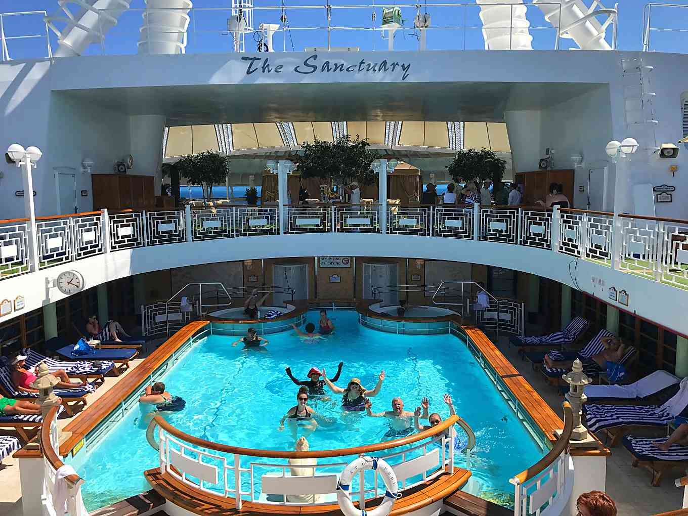 Ruby Princess Mexican Riviera Cruise.  Sanctuary pool