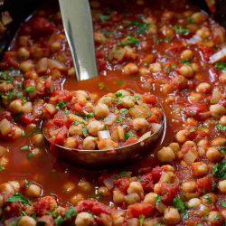 Slow Cooker Italian Chickpeas {Vegan}