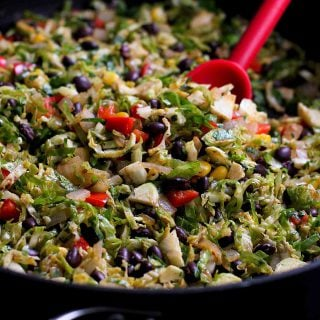 Southwestern Brussels Sprouts Recipe {#VegItUp}